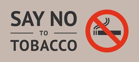 Label World no tobacco day, vector illustration for print