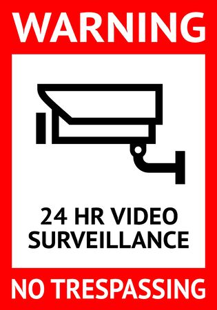 Notice Video Surveillance symbol, label. Vector illustration for print.