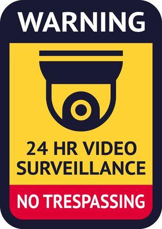 Sticker Video Surveillance symbol, Vector illustration for print.