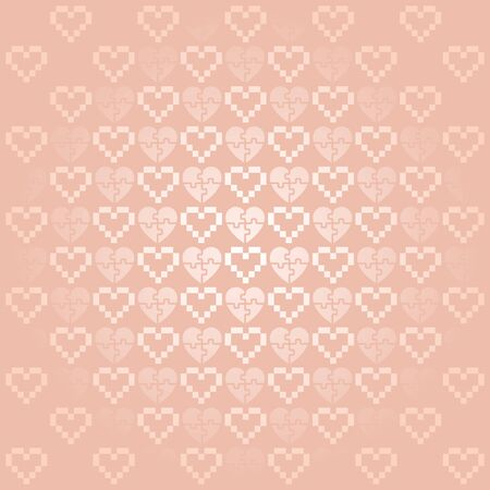 Holiday Background with hearts, simple vector for your design