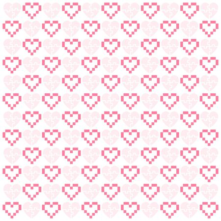 Valentine's day pattern with hearts, simple vector design