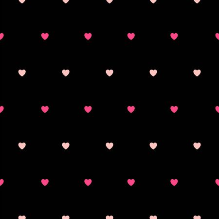 Black background with little colored hearts, simple vector for your love design Ilustração