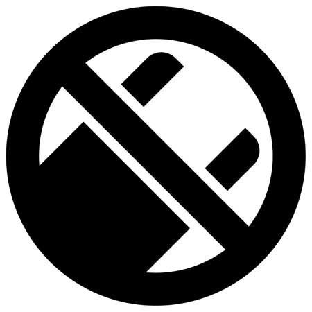 No use plastic bags forbidden sign, modern round sticker
