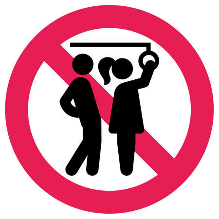 Prohibition Sign public transport, No Sexual Abuse or Harassment