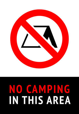 No Camping, trendy sticker, ready to print