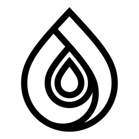 Water drop symbol, black sign