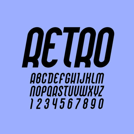 Elegant font, Trendy alphabet, black vector letters on a color background. Illustration