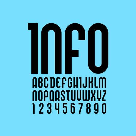 Elegant font, Trendy alphabet, black vector letters on a color background. vector illustration Illustration