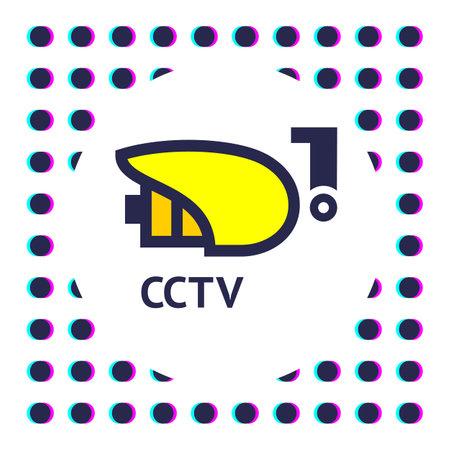 CCTV sticker. Video surveillance vector illustration. Illustration