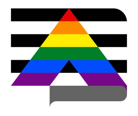 Straight Ally Flag Ilustración de vector