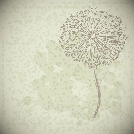 abstract vintage flower