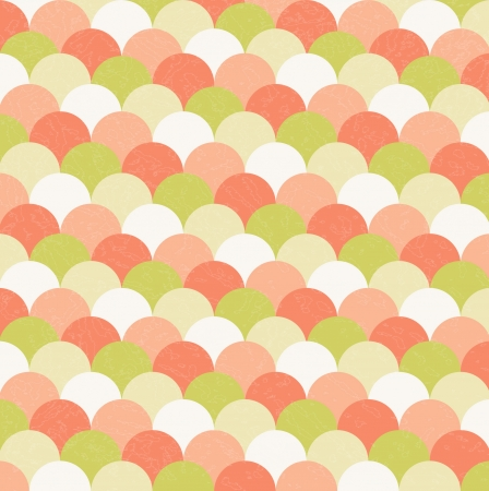 abstract vintage background of vector circles Vector