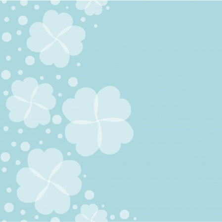 soft blue background clover Stock Vector - 22530044