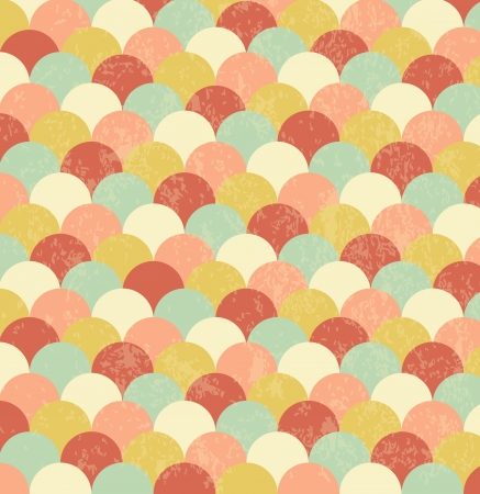 abstract vintage background of circles Vector