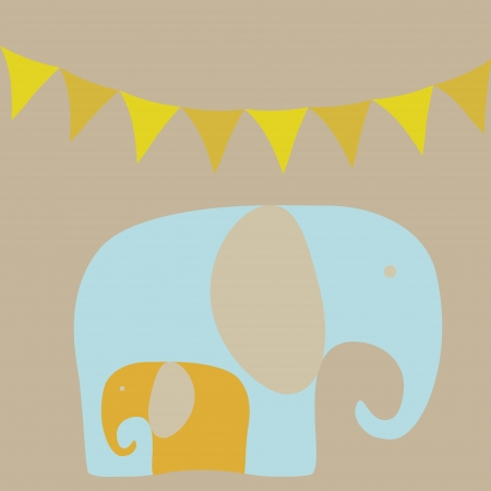 cute baby boy: Baby elephant vector illustration Illustration