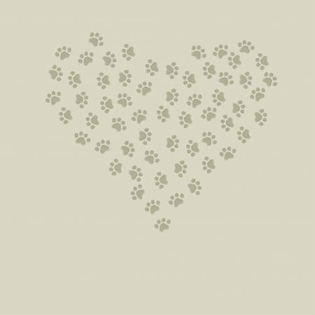 Footprint of an animal Vector