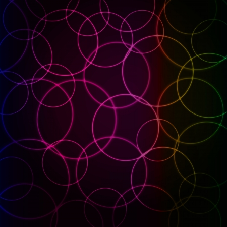 abstract neon background of balloons vector Vector
