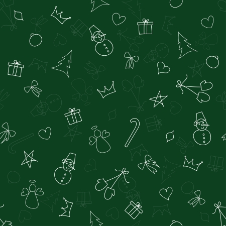 Christmas seamless pattern vector Vector