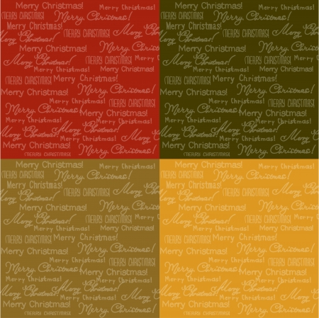 a set of four colored backgrounds vector Christmas Vector