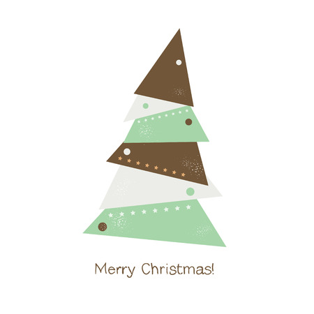 Christmas Tree Ornament of the triangles vector Vector