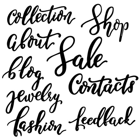 very good: Words in the style of lettering very good quality in the vector. To fill your site menu.
