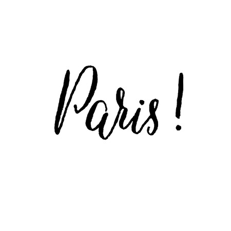 calligraphy pen: Paris, hand lettering vector. Modern calligraphy pen and ink.