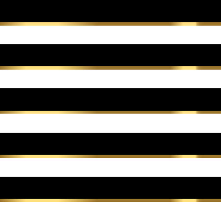 Pattern black and white striped gold.
