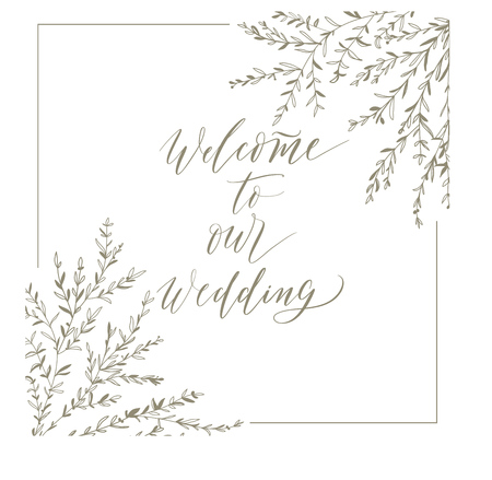 Welcome To Our Wedding, Hand Drawn Lettering And Brunches For ...
