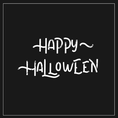 Happy halloween - hand lettering vector. Stock Photo
