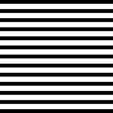 Black and white horizontal stripes vector seamless pattern.