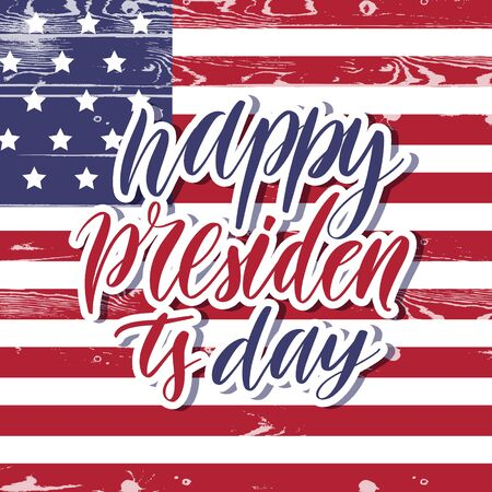 Happy presidents day -  lettering card. Banco de Imagens - 127539268