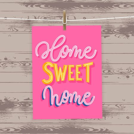 Home sweet home. Modern lettering poster. 일러스트