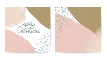 Merry Christmas abstract card pastel color