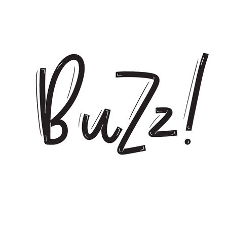 Buzz Card with calligraphy. Hand drawn modern lettering. Illusztráció