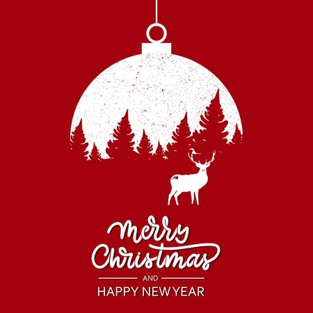 Christmas and New Year illustration Illusztráció