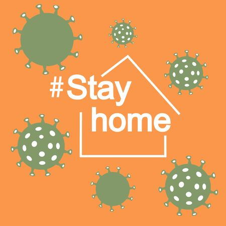 Covid-19 Coronavirus.How to cope anxiety.Stay home. Illustration