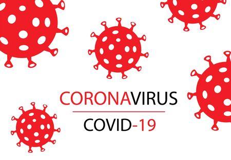 Covid-19 Coronavirus concept inscription typography design logo.