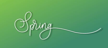 Spring banner with calligraphy.