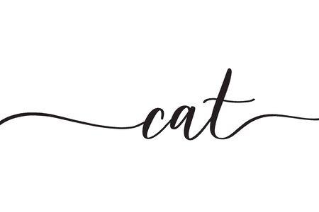 Cat. Concept inscription typography design.