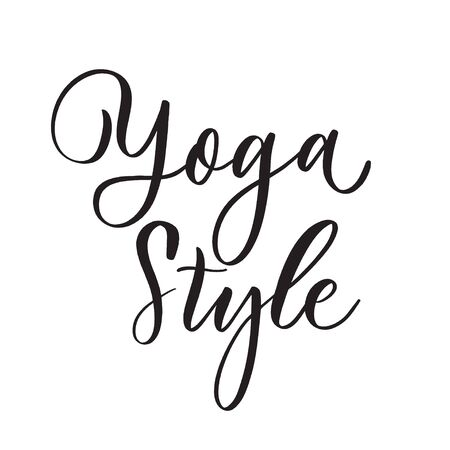 Yoga Style.  Concept inscription typography design.