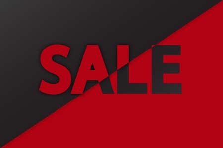 Sale - paper lettering cut with shadow, Illusztráció