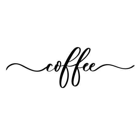 Coffee - hand lettering inscription for product packaging and labeling Ilustração