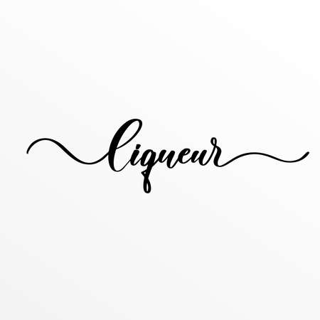 Liqueur - hand lettering inscription for product packaging and labeling
