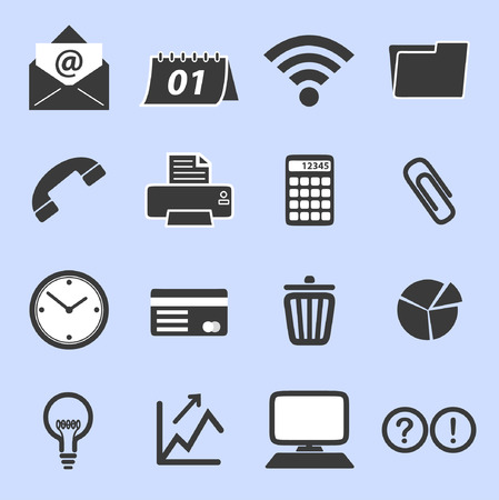 List of business related icons Vector