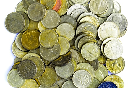quater: Half and quater baht coins Stock Photo
