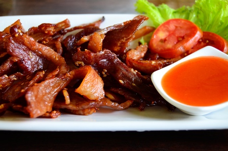 chilli sauce: fried pork with chilli sauce