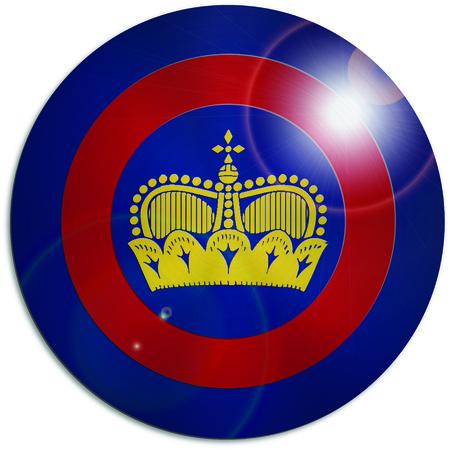 liechtenstein: Captain Liechtenstein superhero shield