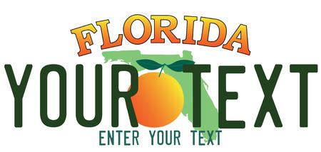 number plate: Florida number plate Illustration