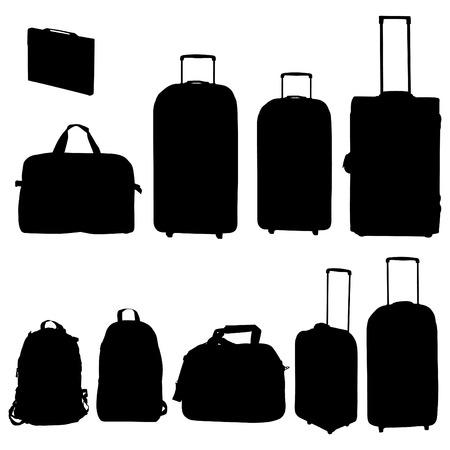 Colección de bolsas y maletas de viaje - vector