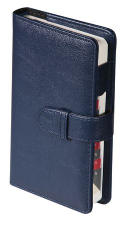 Dark leather notebook in the white background  photo